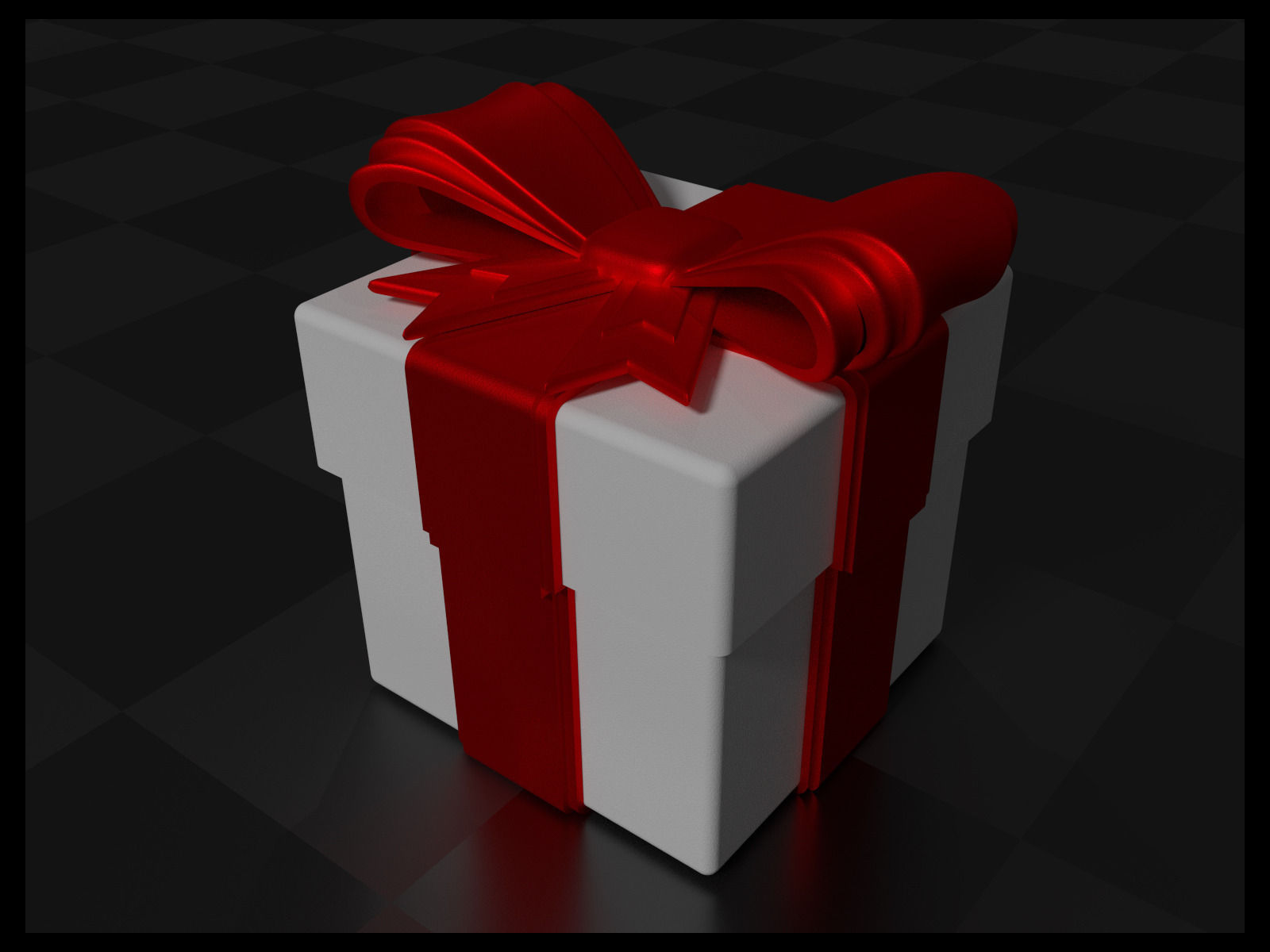 Gift Box with Bow and Ribbon