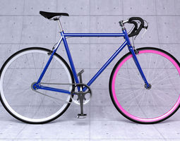 fixed gear bicycle 3d model max
