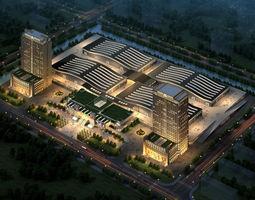 building Commercial Plaza 3D