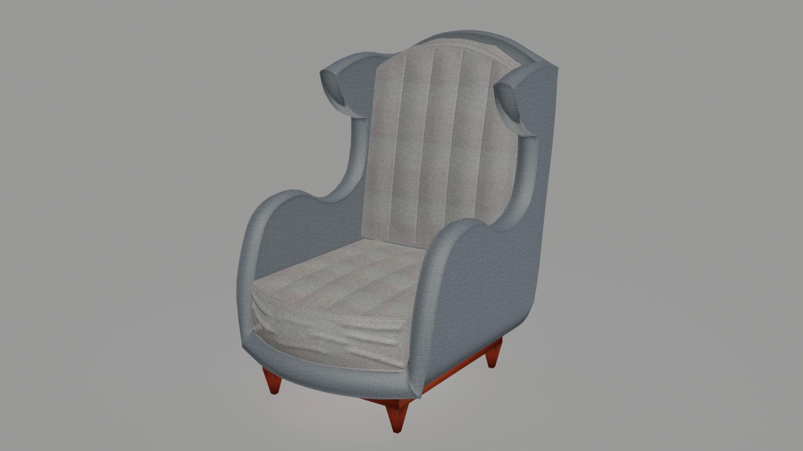 nexus wingback armchair 3d model