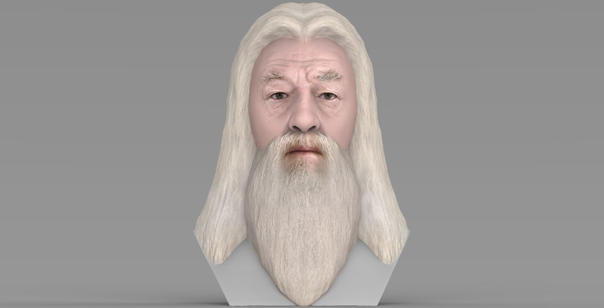 Dumbledore from Harry Potter bust for full color 3D printing