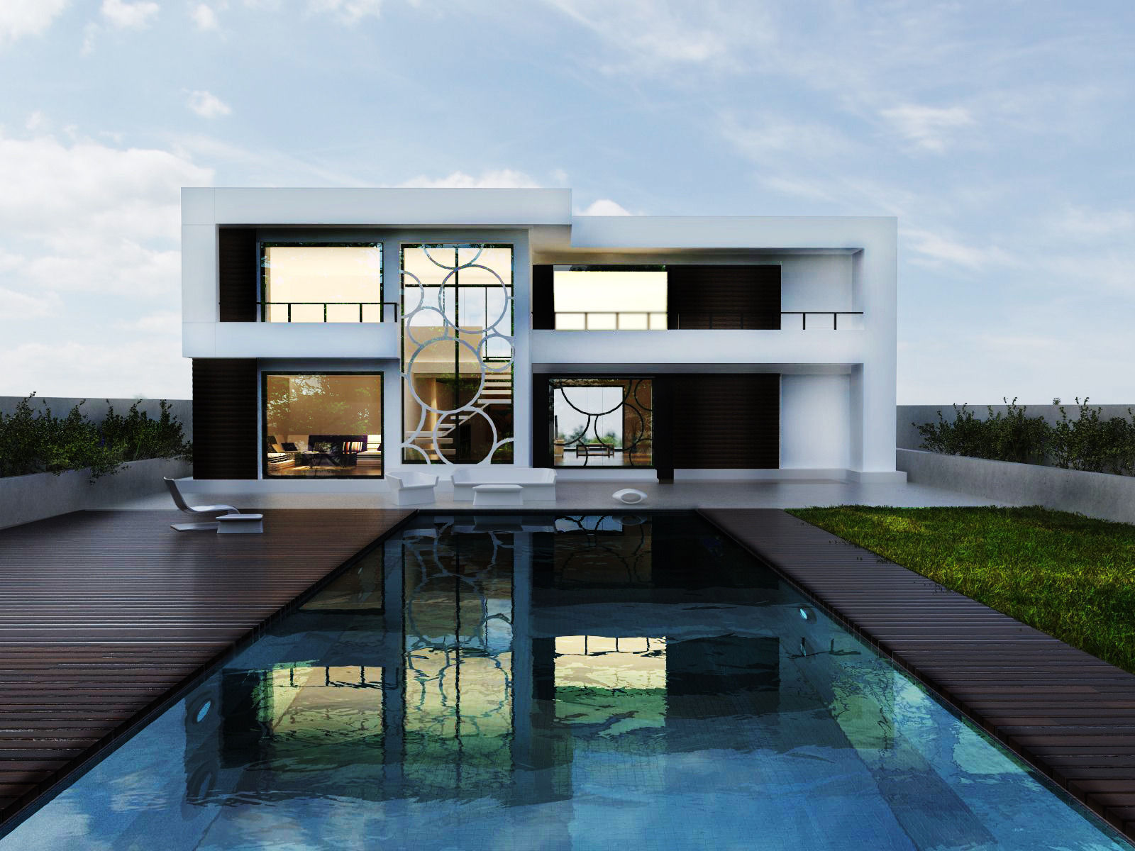 Modern House 3d Model Free Cgtrader