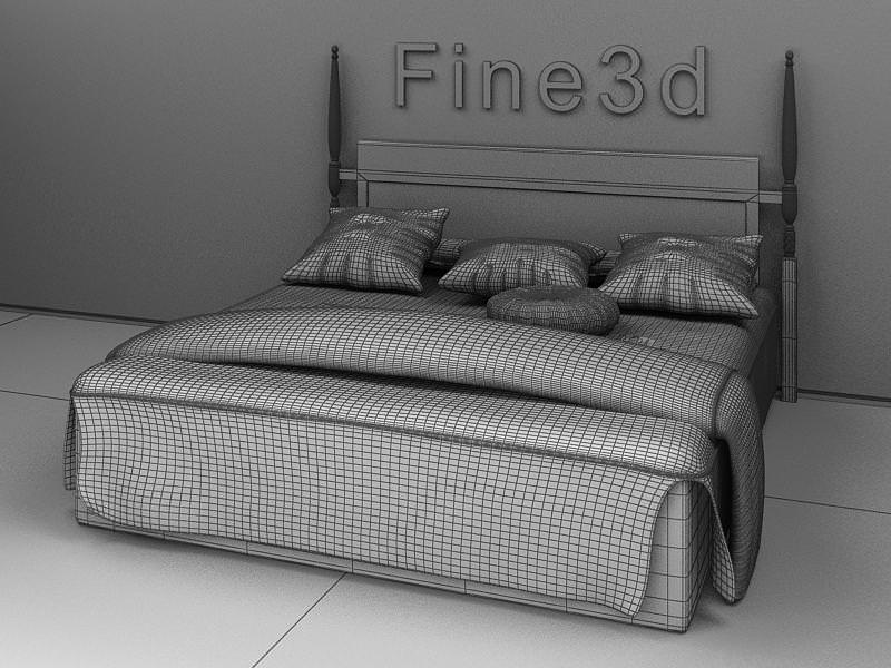 Bed 3d model collection by fine3d 3d model max obj 3ds for 3ds max bed model