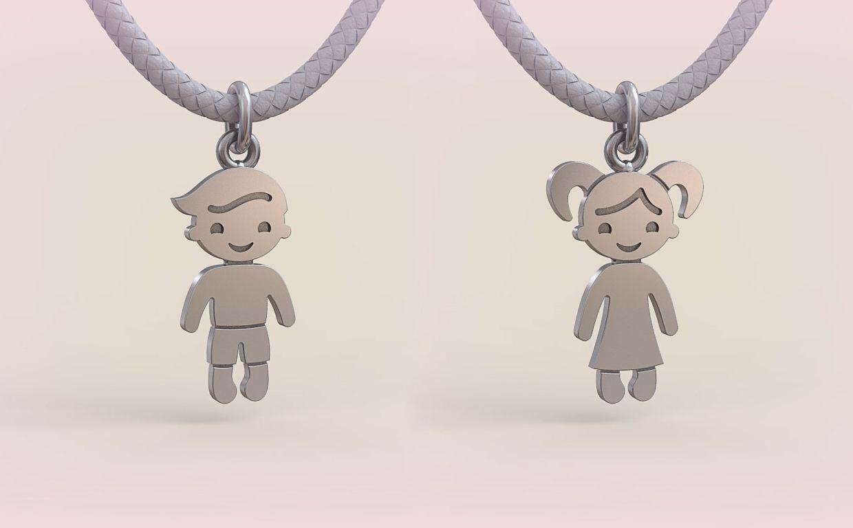 Pendant Boy and Girl 08