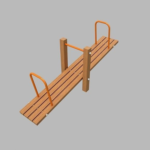 Seesaw Teeter  Totter  3D Playground  Type2