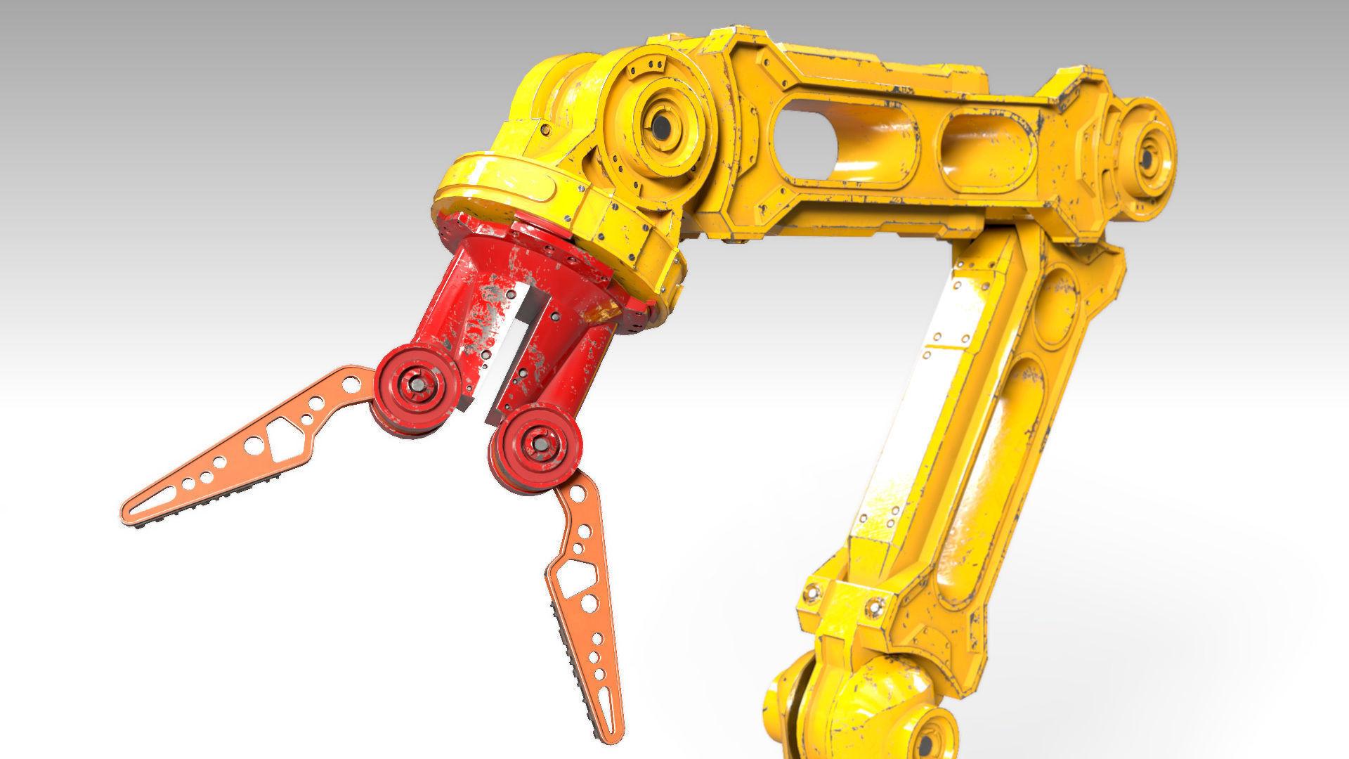 Robotic Arm PBR Rigged