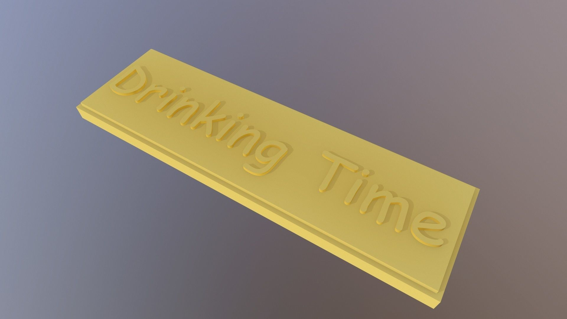 Drinking Time Label