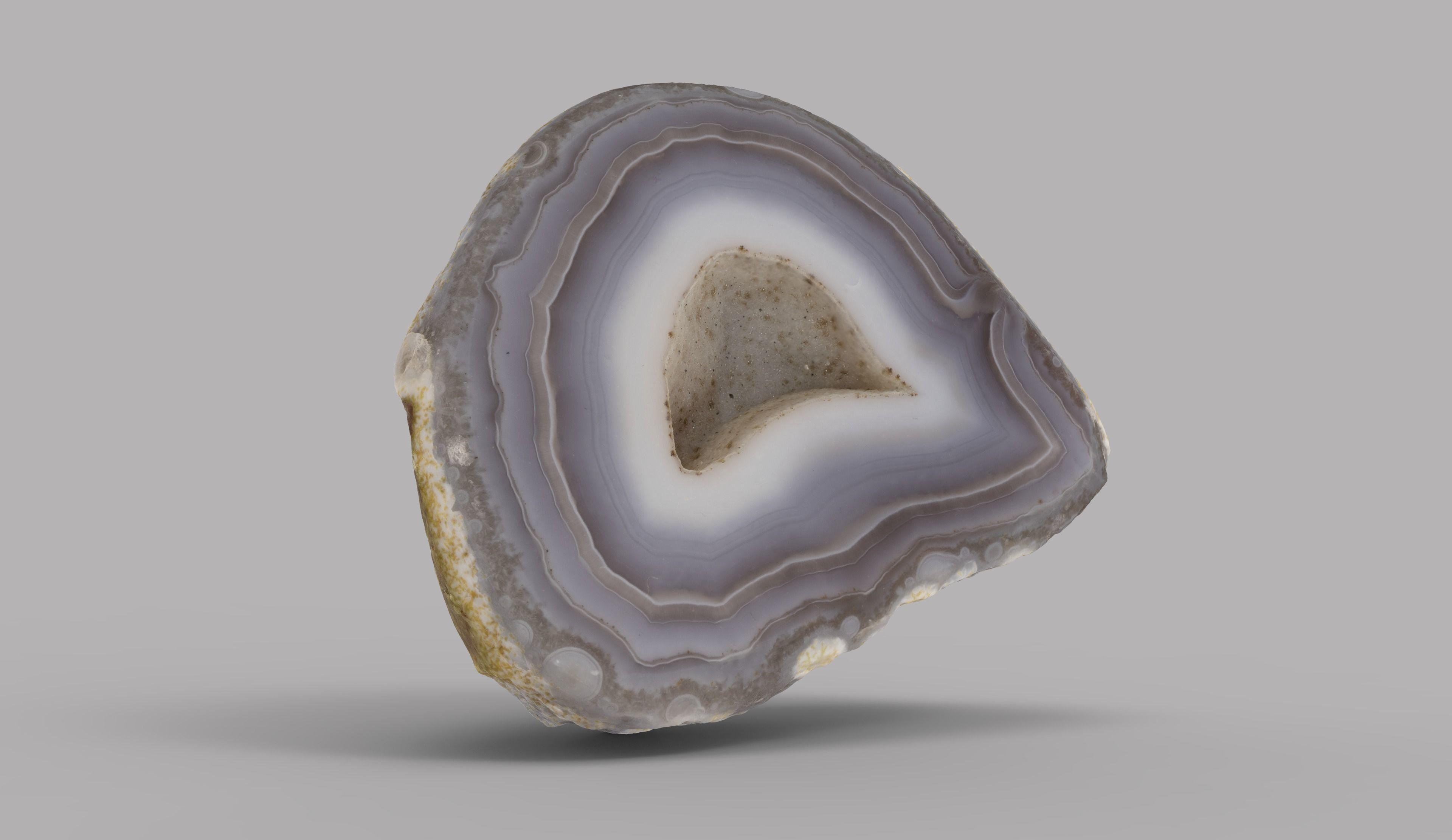 3d scan of Agate gem