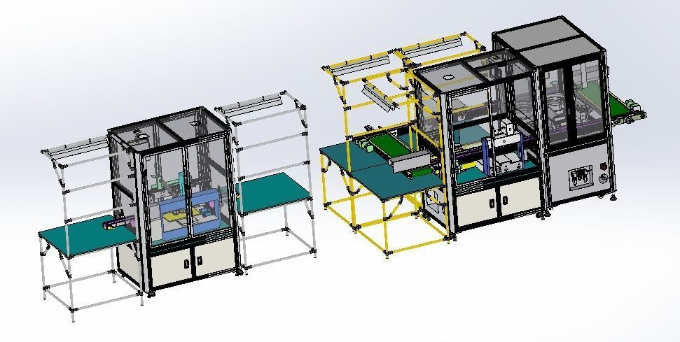 Dispensing integrated production line