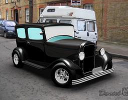 Old Car 1940 3D model