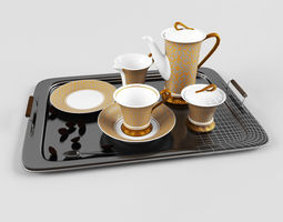 3D model Tray with cup