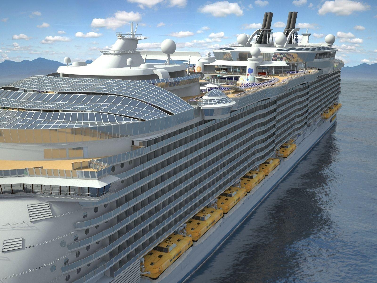Oasis Of The Seas Cruise Ship 3D Model MAX OBJ 3DS FBX C4D