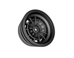 rc car drift wheel bullseye width 24mm     offset  minus 4mm  3d print model