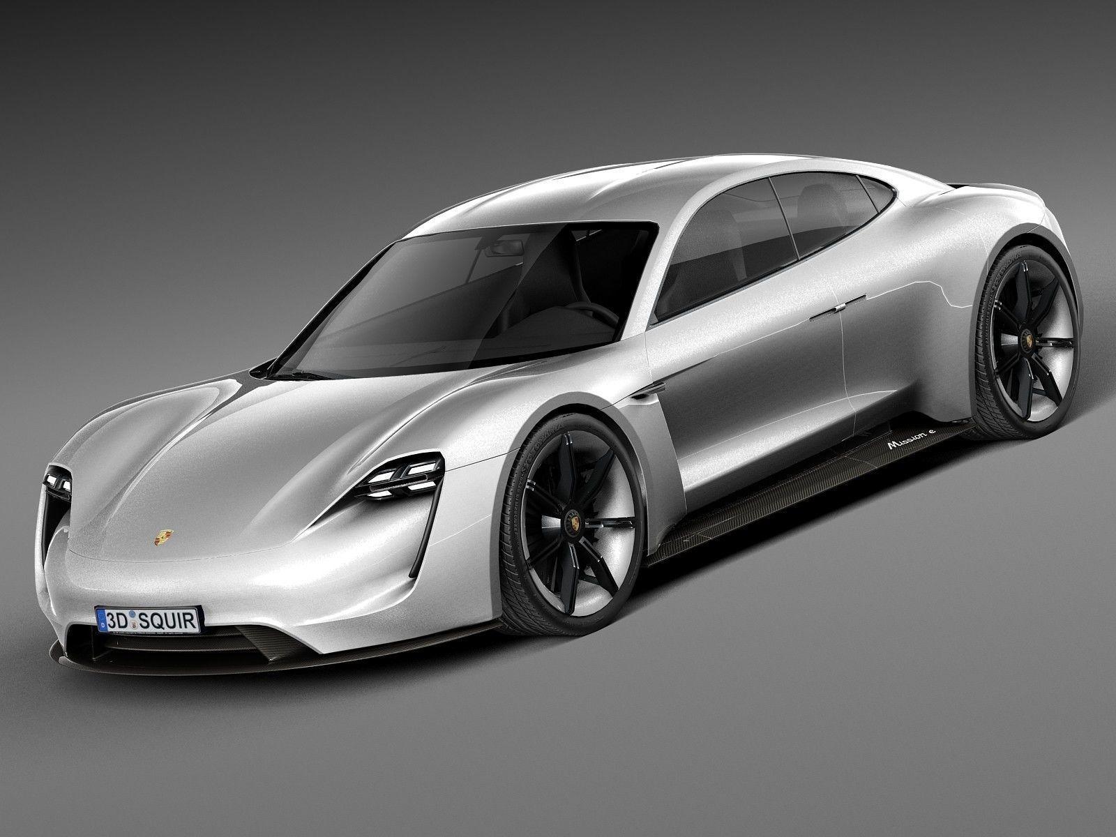 HQ LowPoly Porsche Mission E Concept 2015