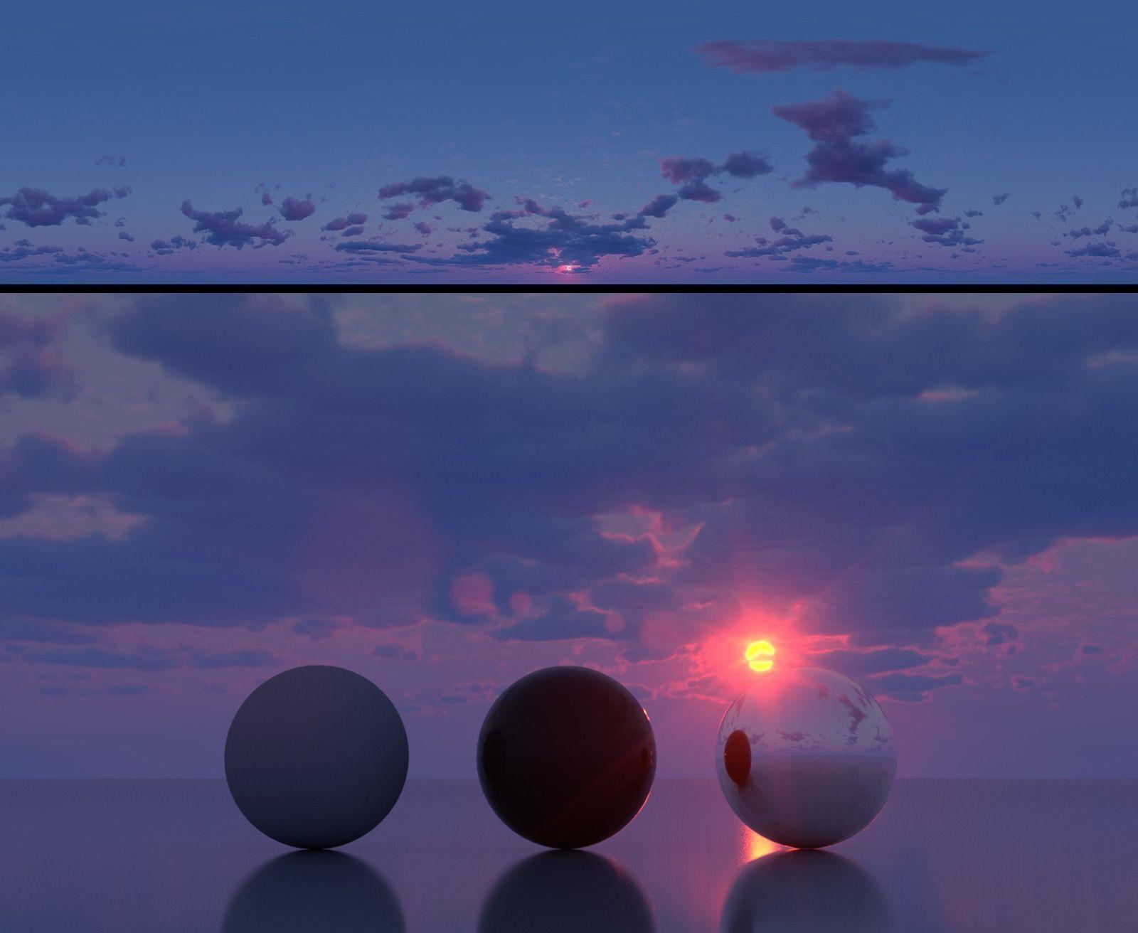 3D model Skydome HDR - Hazy Dusk Sunset - 2 textures