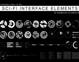 3d sci-fi interface elements