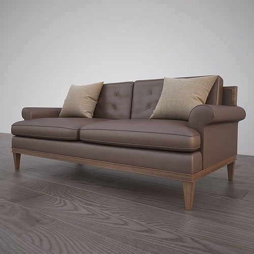 Classic sofa 3d model leather cgtrader for Edit 03 sofa