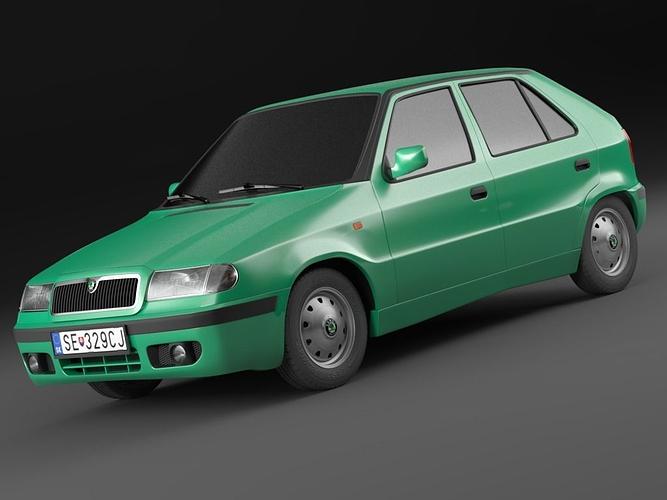 skoda felicia facelift 98-01  exterior only 3d model max obj mtl 1