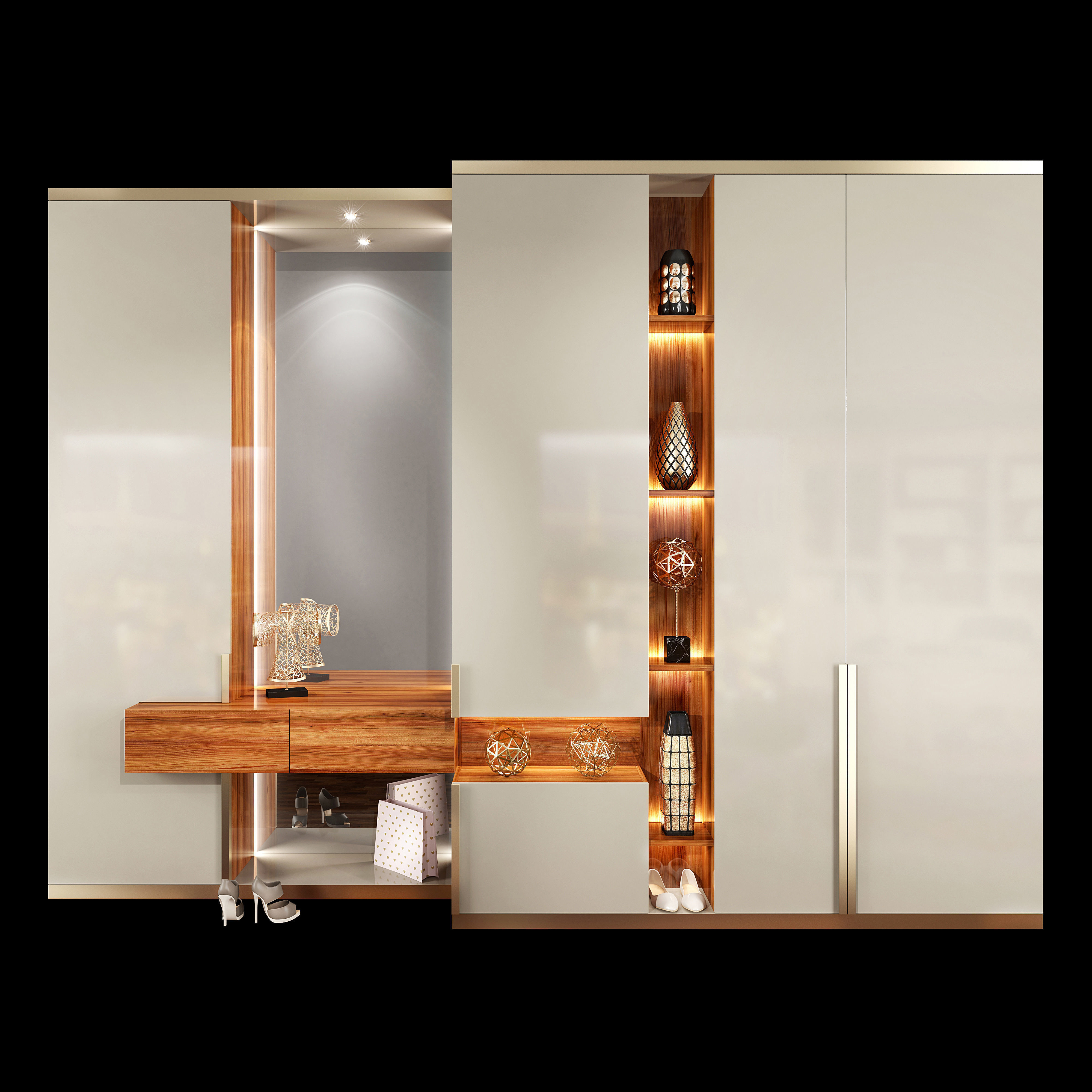 Wardrobe hallway composition set 01