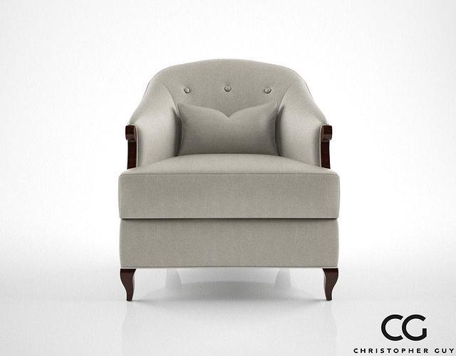 christopher guy morzine armchair 3d model max obj mtl fbx 1