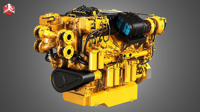 C32 Acert Engine - V12 Industrial Diesel Engine