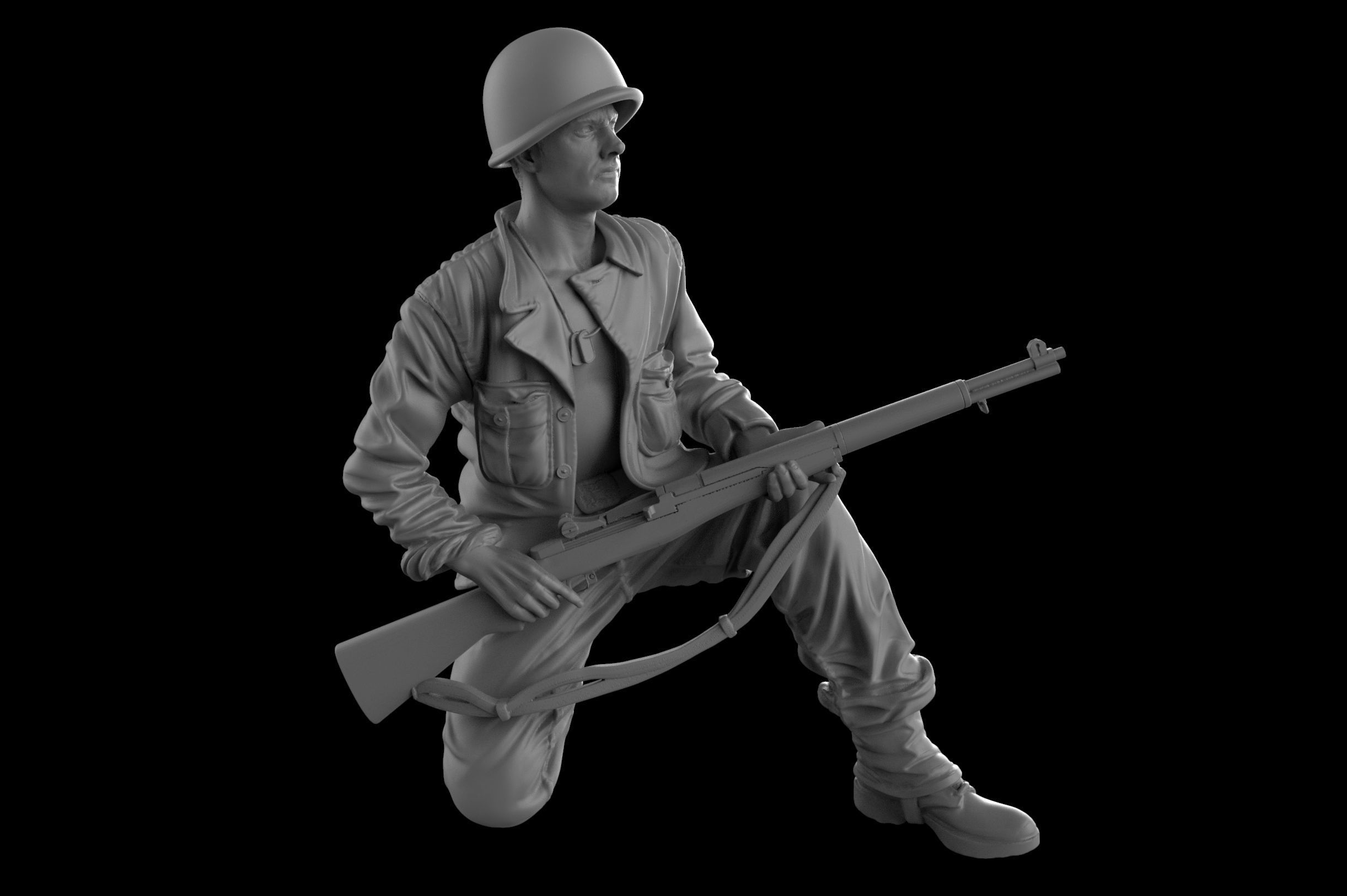 USA Soldier with rifle 1930   16  35