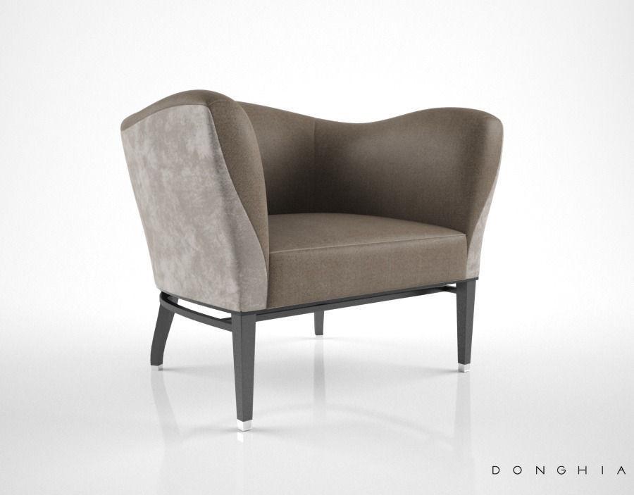 ... Donghia Carmen Club Chair 3d Model Max Obj Fbx Mtl 2 ...