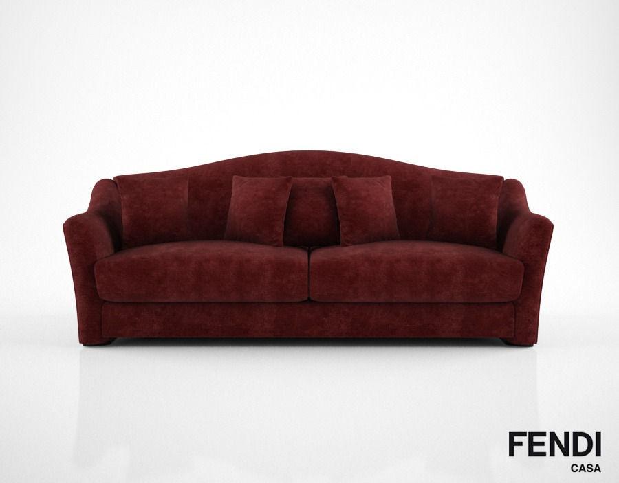 Bon Fendi Casa Faubourg Sofa 3d Model Max Obj Mtl Fbx 1 ...