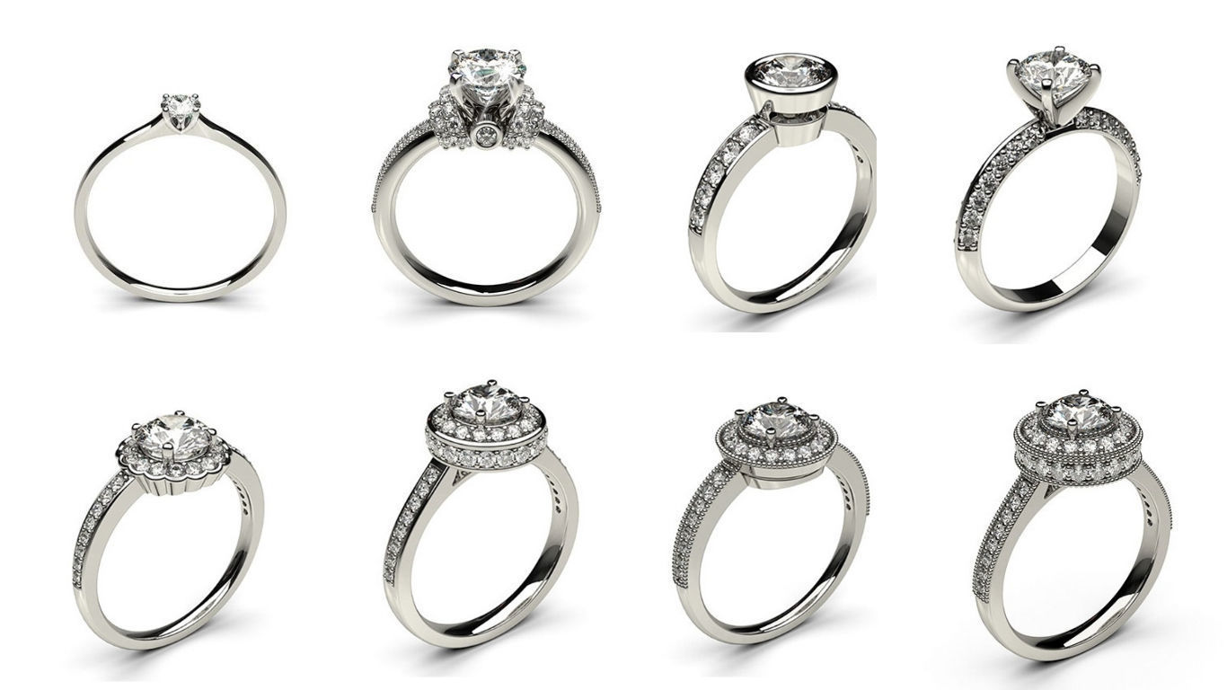 8 Solitaire Woman Diamond Ring