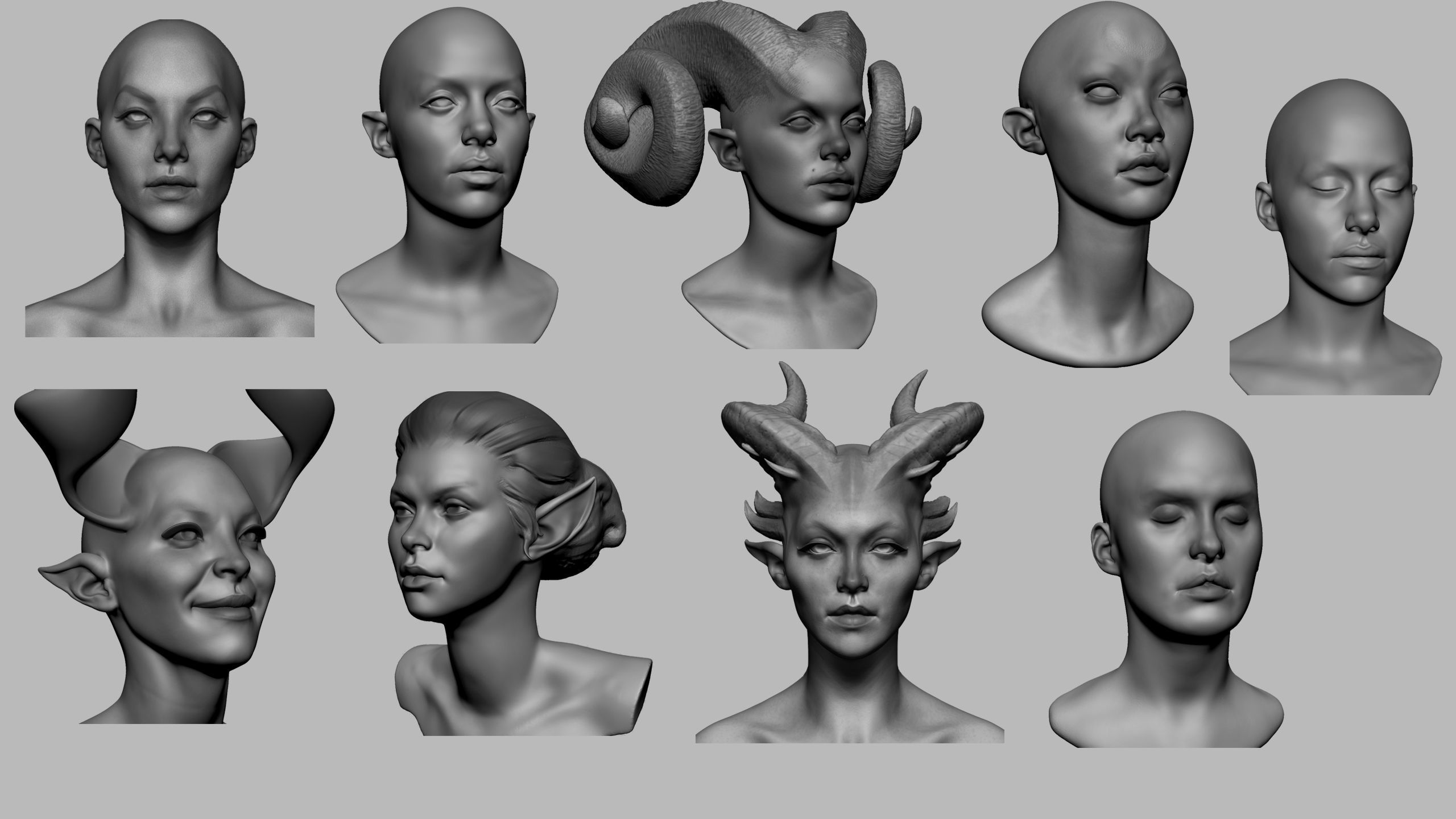 Female Head Collection