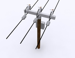 Electrical Post MAX 2010 3D model