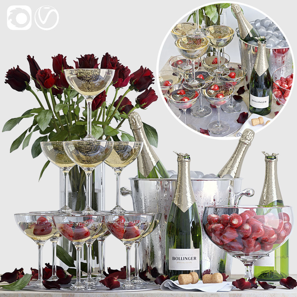 Champagne decorative set