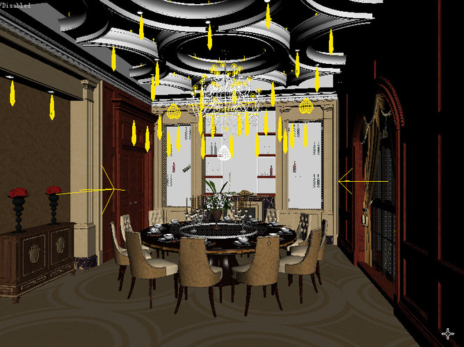 Dining room interior 3d model collection by fine3d 3d for Dining room 3d max interior scenes