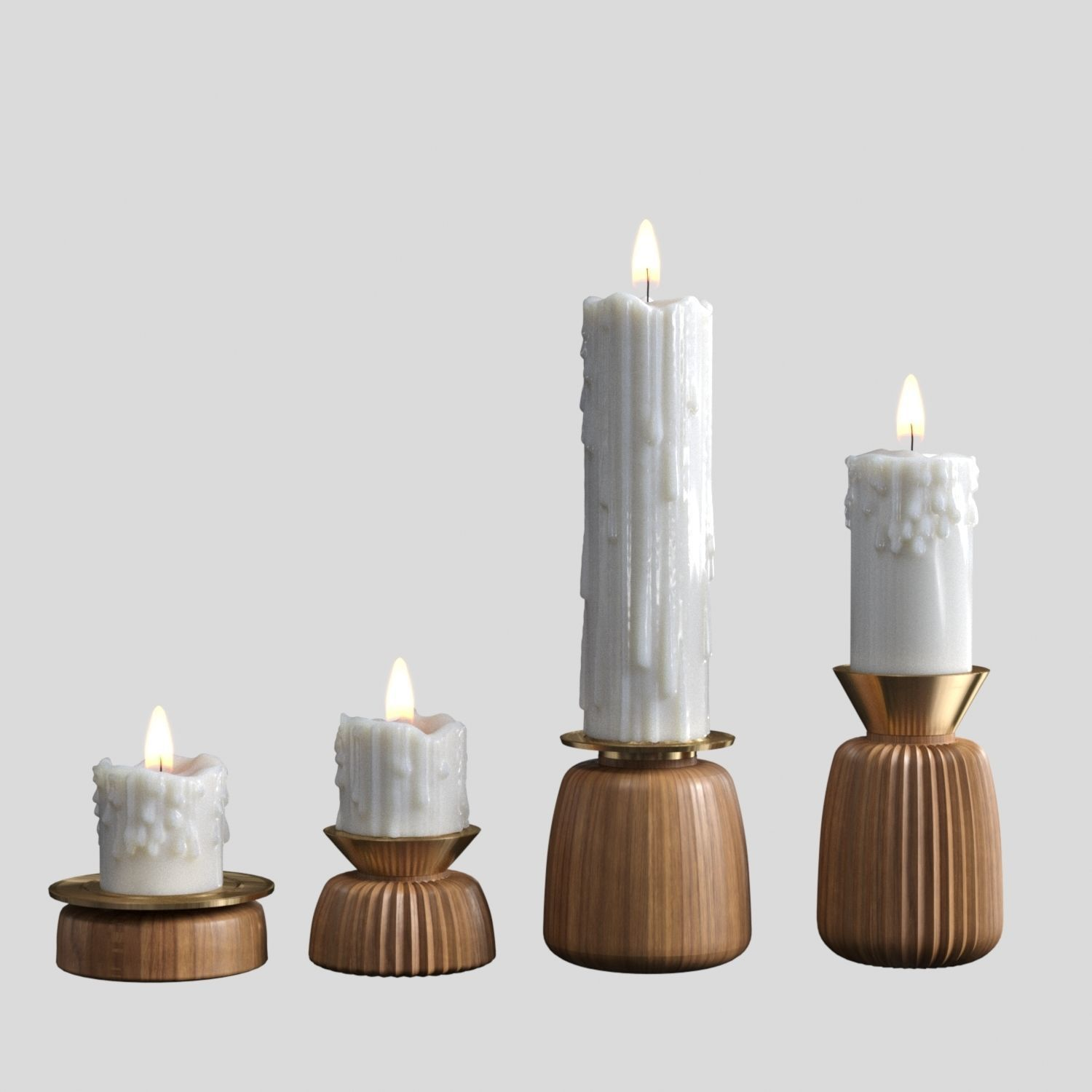 Melted candles set