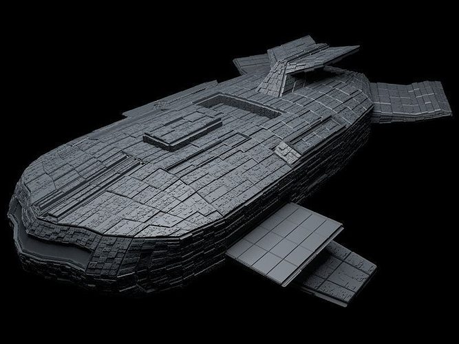 the space mothership 3d model cgtrader
