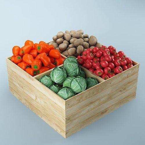 store vegetables stand 02 3d model max obj fbx mtl 1
