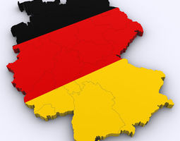 Map of Germany 3D
