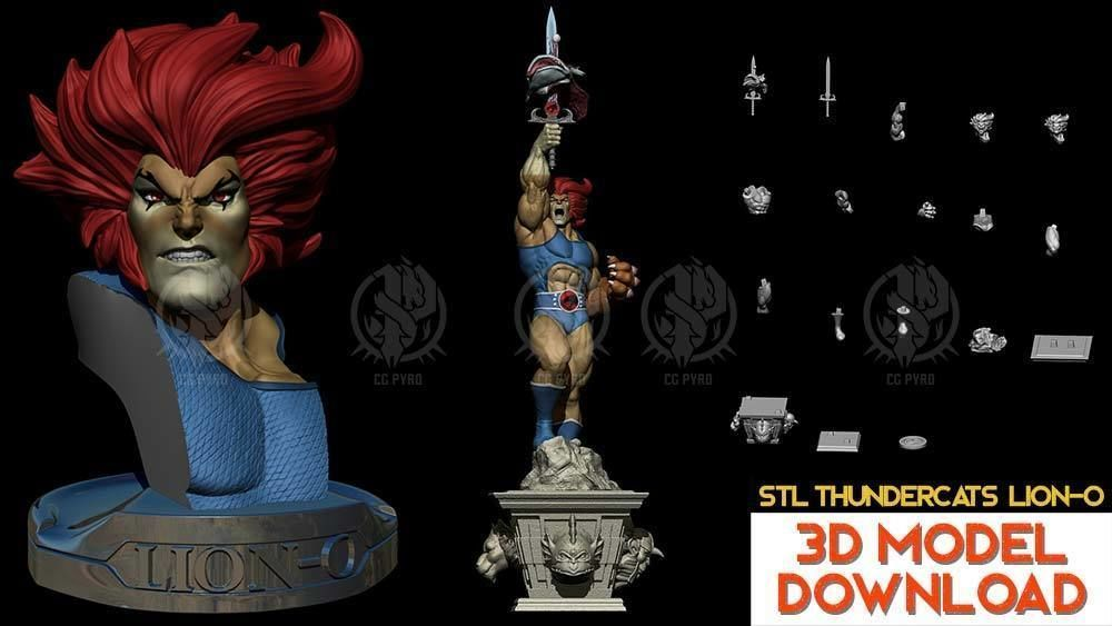 Thundercats Lion-O STL for 3D printing Fanart Term 24 3D models