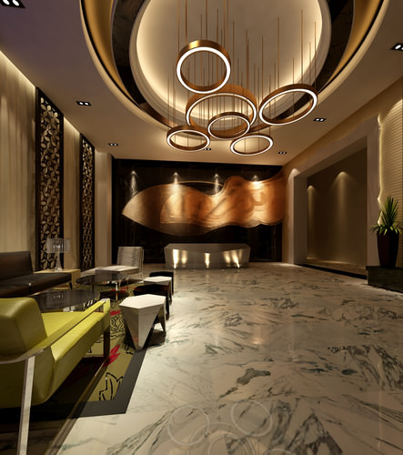 3d model hotel lobby cgtrader for Luxury household items