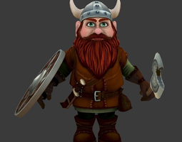realtime gnome low poly game model
