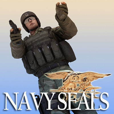 US Navy SEALs w P226 pistol and MK18