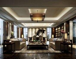 Luxurious Living Room 3D model