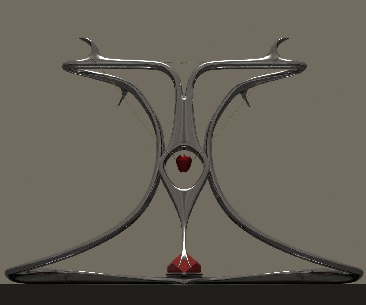 Snake necklace display stand 3d model max obj 3ds fbx for Jewelry stand 3d model