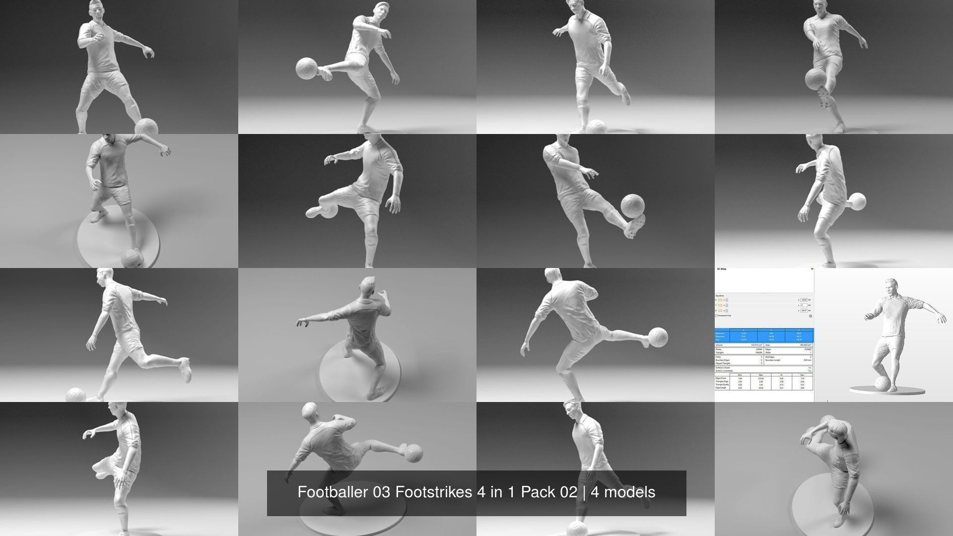 Footballer 03 Footstrikes 4 in 1 Pack 02