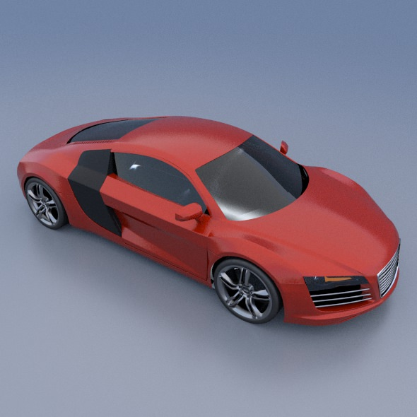 Audi R8 Sports Car 3D Model OBJ 3DS FBX LWO LW LWS BLEND  CGTrader.com