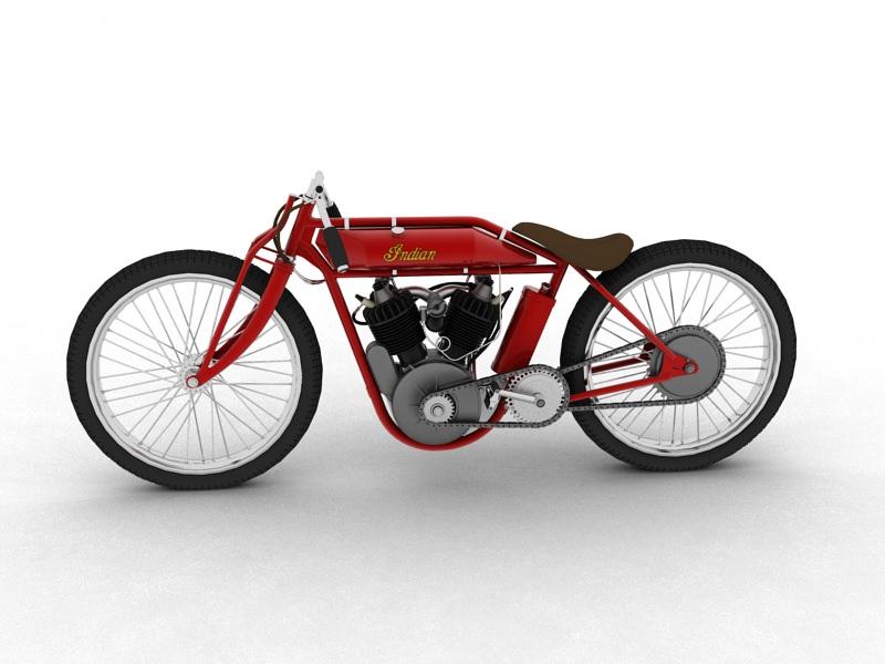 Indian Boardtrack Racer 1920 Model Max Obj Mtl S Fbx C4d Dxf 4