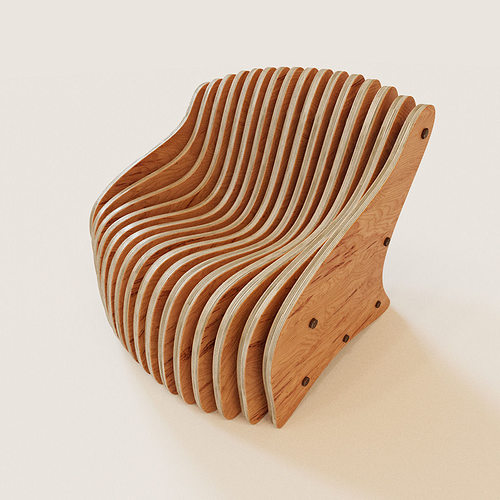 3d model parametric armchair cgtrader for Furniture 3d design