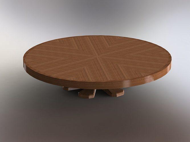 Round Expanding Folding Table 3d Model Sldprt Sldasm Slddrw 1 ...