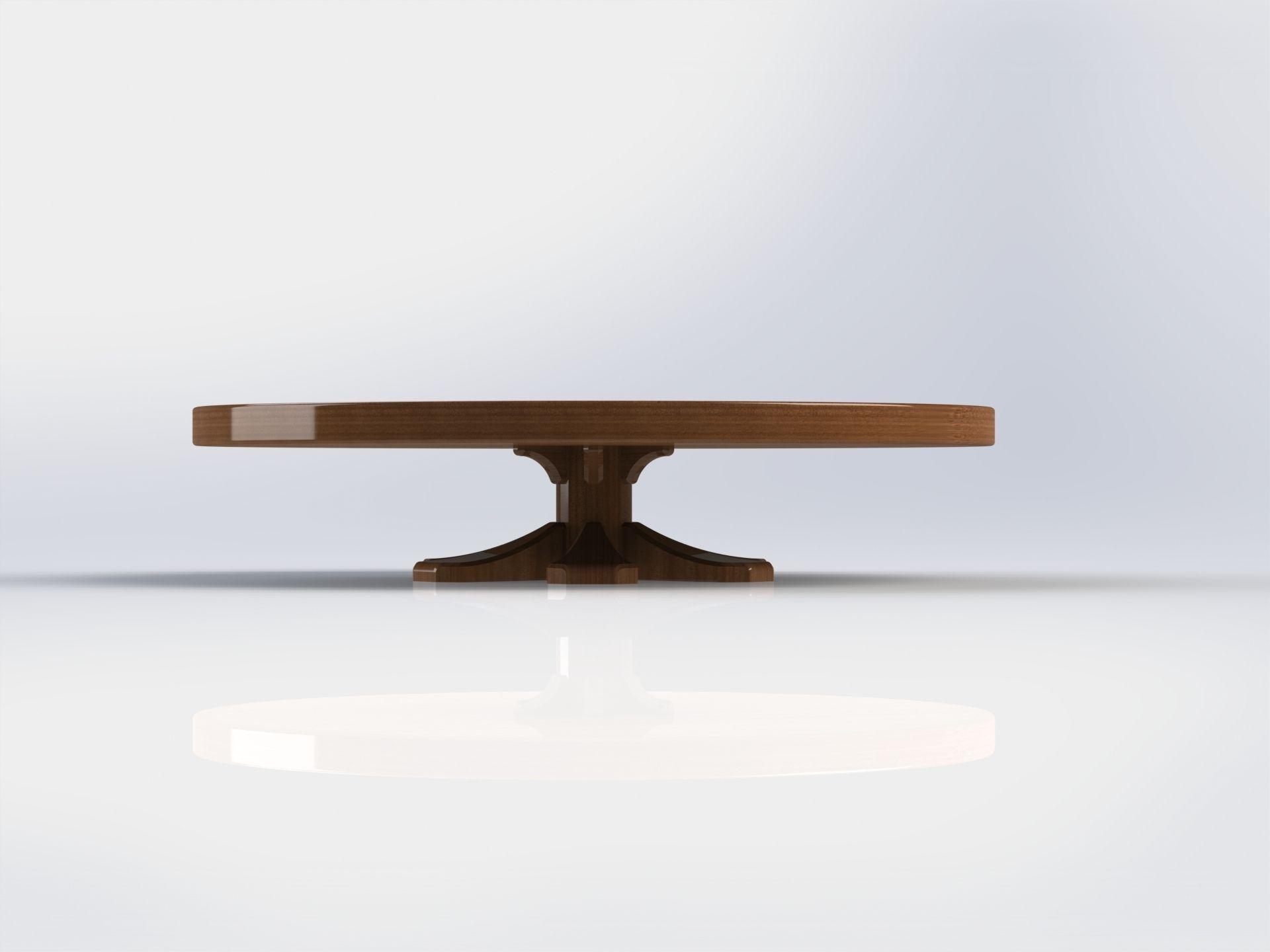 round expanding folding table 3d model sldprt sldasm
