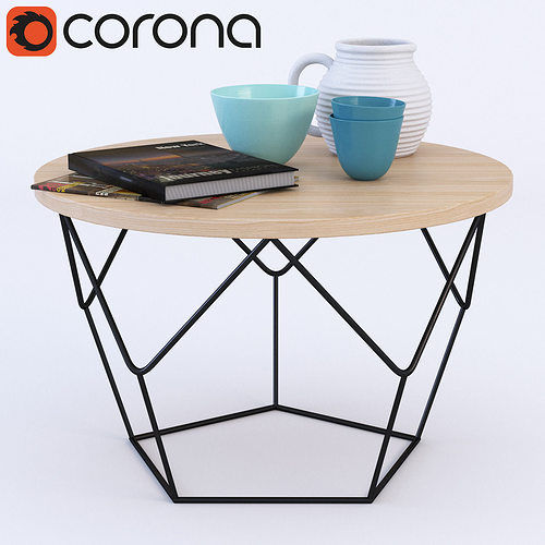 West Elm Origami Coffee Table D Model CGTrader - West elm geometric coffee table